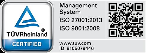 ISO 9001:2008 e ISO 27001:2013
